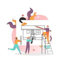House building concept for web banner vector
