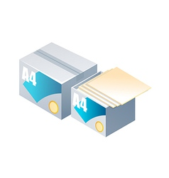 icon paper vector image