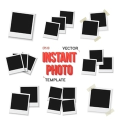 Instant Photo Blank Vintage Photo Frame vector image