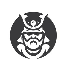 japan samurai warrior silhouette sign vector image