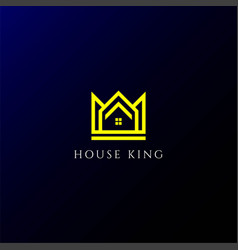 king queen crown house apartment real estate vector image
