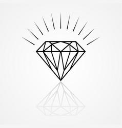 Line art of a diamond vector