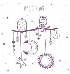 magic place ethnic vector image