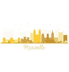 Marseille france city skyline silhouette vector