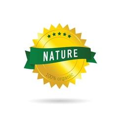 Nature green ribbon vector