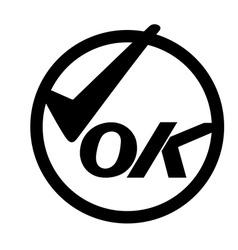 OK SYMBOL vector image