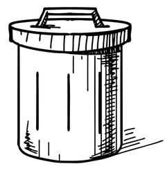 Outdoor trash bin icon vector image