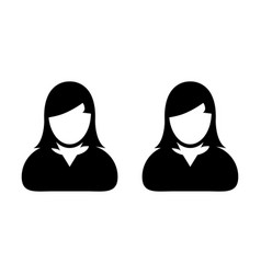 People icon female group of persons symbol avatar vector