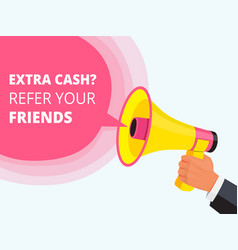 refer friend poster referral program concept vector image