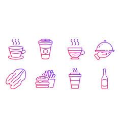 Restaurant food takeaway coffee and takeaway vector