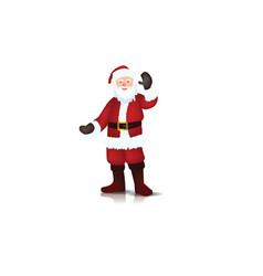 Santa claus with white vector