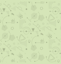 seamless soccer pattern football background vector image