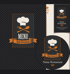 set of design elements for a cafe or restaurant vector image