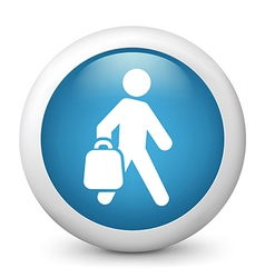 Shopper glossy icon vector