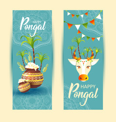 South indian festival pongal background template vector