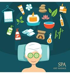 spa flat design vector image