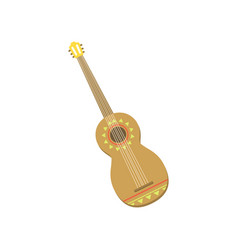 spanish guitar with mexican ornaments vector image