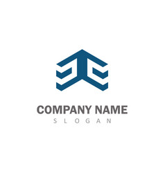 square 3d logo vector image