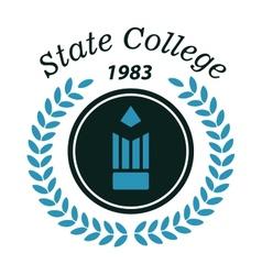 State college emblem vector image
