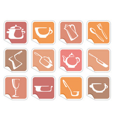 stickers with ware images vector image