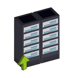 storage servers technology vector image
