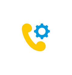 tech support icon flat element vector image