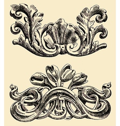 The reliefs of the 19th century Kiev buildings vector image vector image
