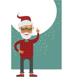 Trendy Santa vector image