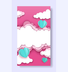 valentines day social media story post template vector image