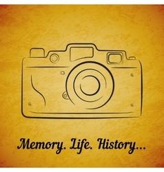 vintage film photocamera vector image