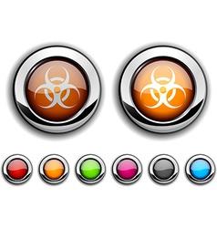 Virus button vector
