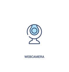 Webcamera concept 2 colored icon simple line vector
