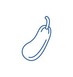 zucchini line icon concept zucchini flat vector image