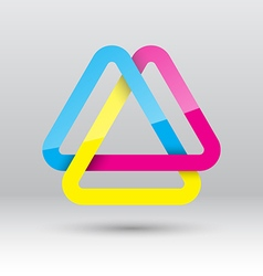 Abstract triangle loop icon vector image vector image