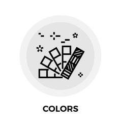 Colors line icon vector