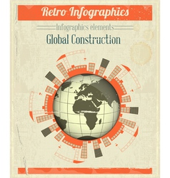 Concept of Global Construction vector image