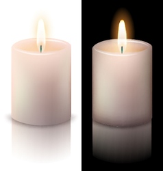 realistic candle vector image vector image