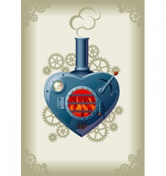 steam valentine vector image vector image