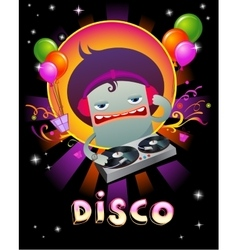 Stylish disco party banner vector image vector image