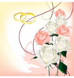 bridal bouquet vector image vector image