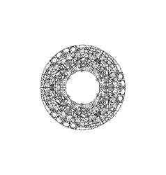 image of a mandala made in the form black vector image vector image