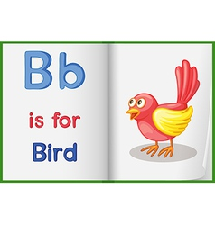 A picture of a bird in a book vector image