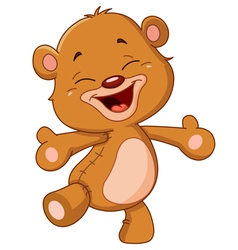 cheerful teddy bear vector image