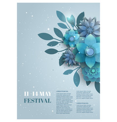 flower poster for the festival vector image vector image