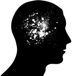 Head ink blots vector image vector image