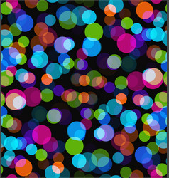night lights seamless bokeh background vector image vector image