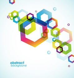Abstract hexagon background with place for your vector image vector image