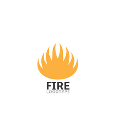 fire logo sign vector image vector image
