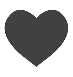 heart glyph icon web and mobile love sign vector image