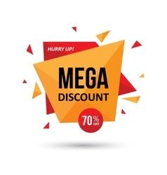 Mega discount geometric design vector image